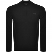 BOSS HUGO BOSS Barlo Half Zip Knit Jumper Black